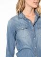 Mavi Jean Gömlek | İsabel Renkli